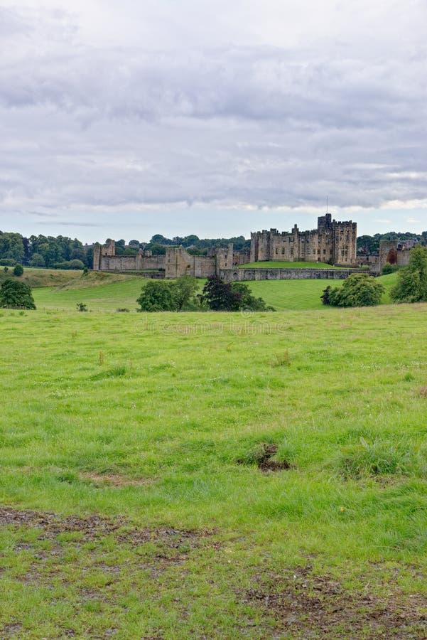 Zamek Alnwick - Northumberland - Zjednoczone Królestwo zdjęcie royalty free