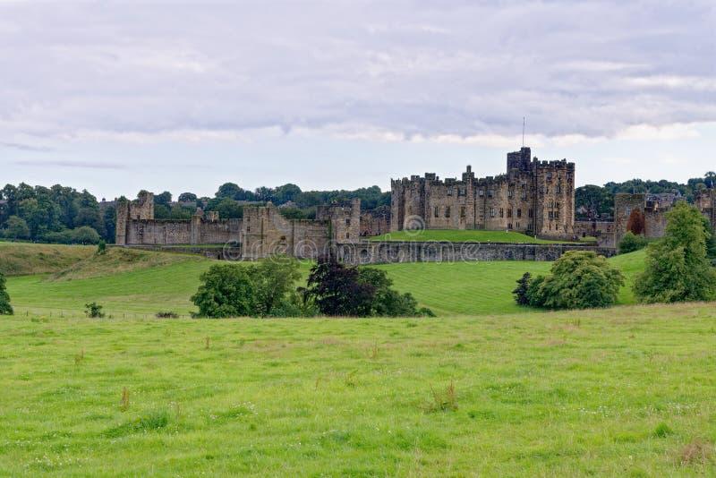 Zamek Alnwick - Northumberland - Zjednoczone Królestwo obraz royalty free
