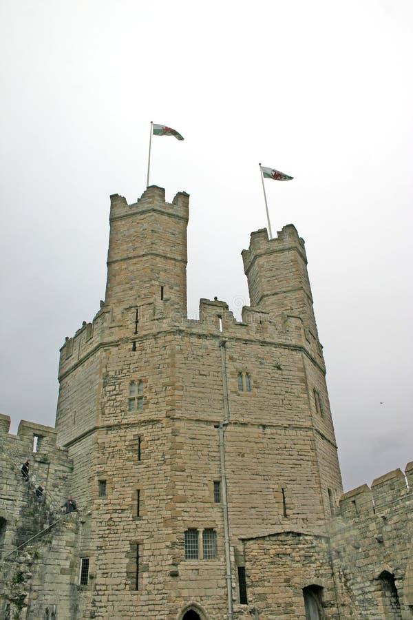 zamek caernarfon północny Wales zdjęcie royalty free
