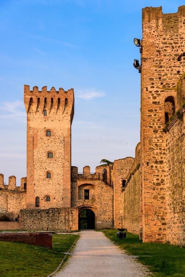Zamek Carrarese w Este zdjęcia stock