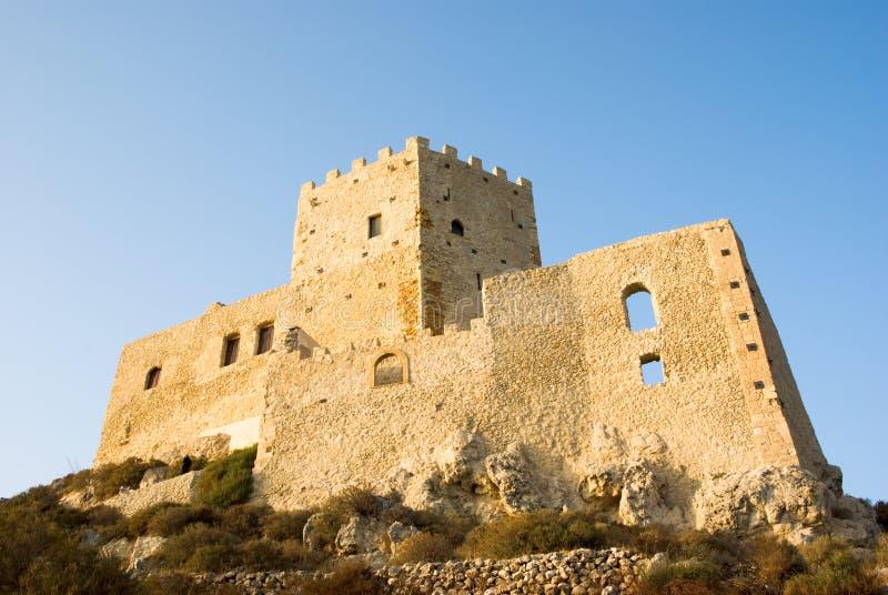 zamek Chiaramonte Di Montechiaro dłoni fotografia stock