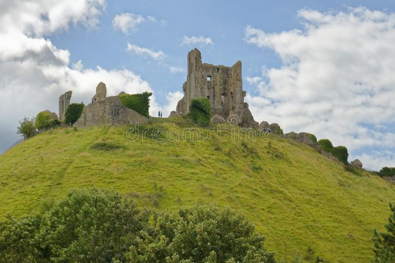 zamek corfe południowego swanage Dorset Anglii obrazy stock