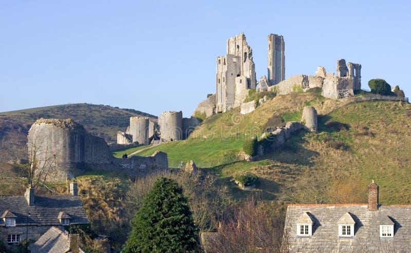zamek corfe południowego swanage Dorset Anglii fotografia royalty free