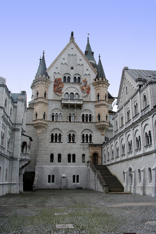 zamek cortyard zdjęcie stock