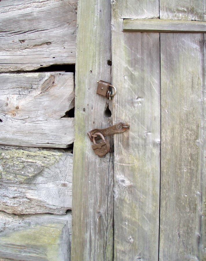 zamek drzwi drewniane fotografia stock