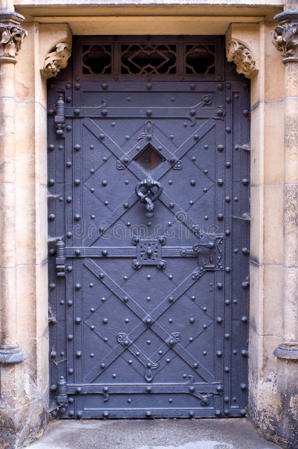 zamek drzwi Prague zdjęcie royalty free