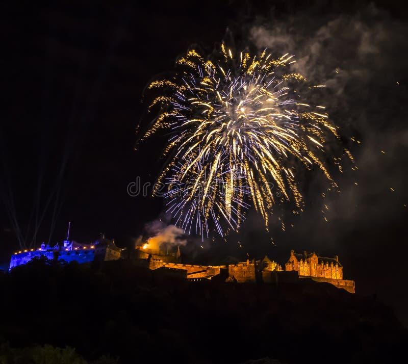 zamek Edinburgh królestwie Scotland united fotografia royalty free