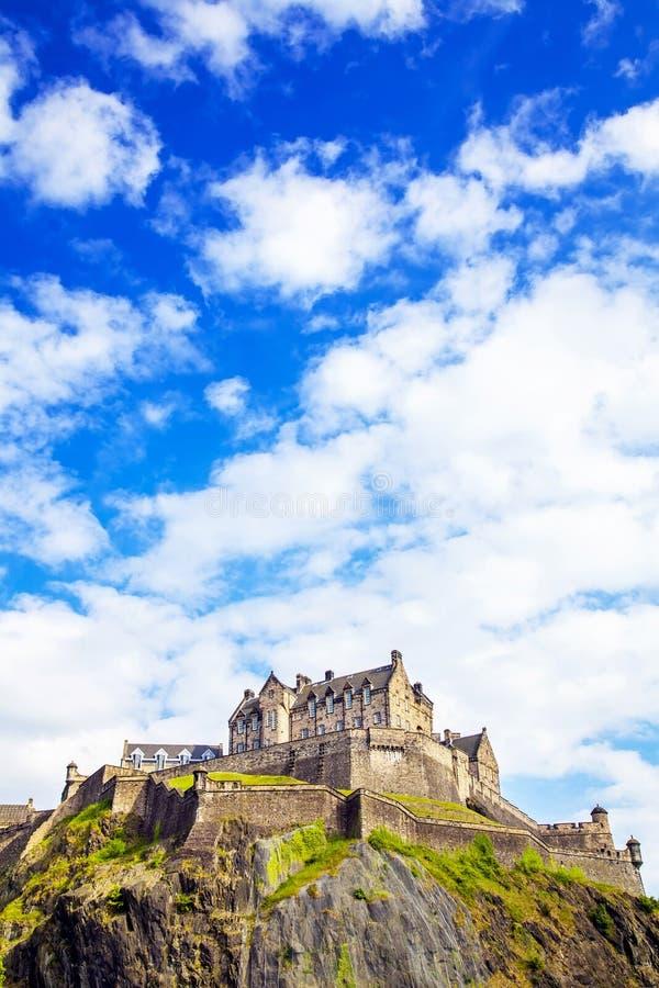 zamek Edinburgh kr?lestwie Scotland united fotografia royalty free