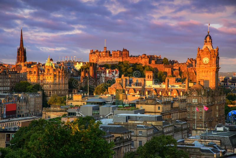 zamek Edinburgh Scotland obrazy royalty free