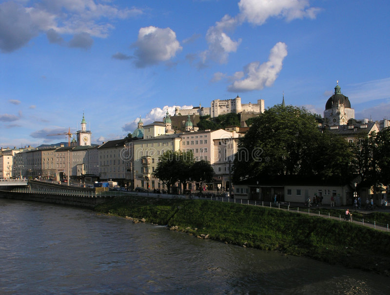zamek jest Salzburga zdjęcia stock