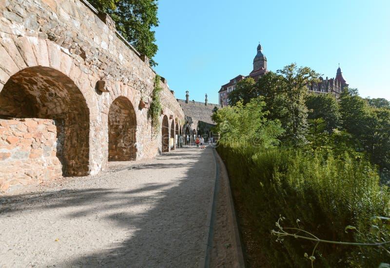 Zamek Ksiaz Walbrzych Castle, Day foto. Zamek Ksiaz near Walbrzych. Day foto stock photography