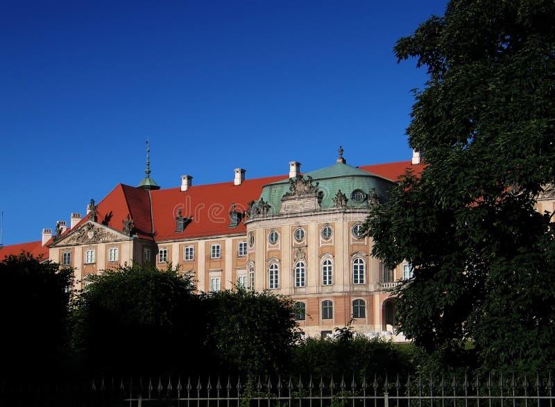zamek kwadratowego Warsaw obraz royalty free