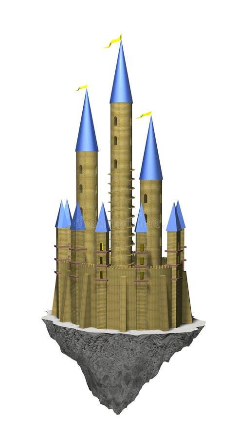 zamek latać royalty ilustracja