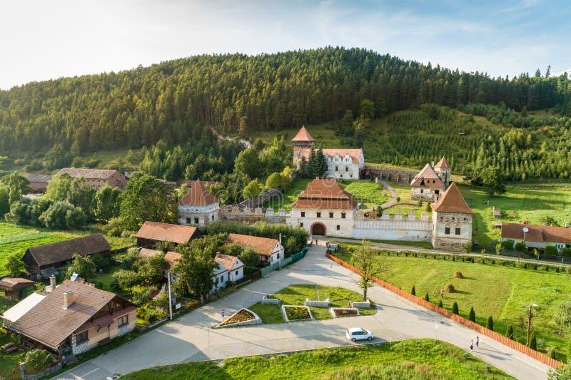 Zamek Lazar, ważne budynki Renesansu w Transylwanii, położone w Lazarei, Rumunia zdjęcie royalty free