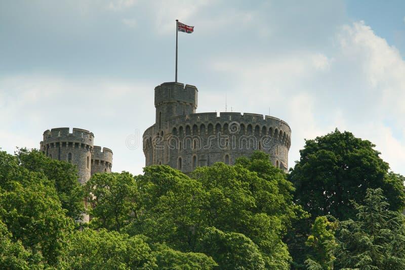 zamek nad wierzchołka drzewa windsor obraz royalty free