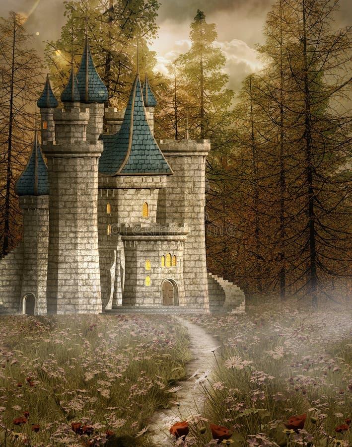 zamek oczarowany ilustracja wektor