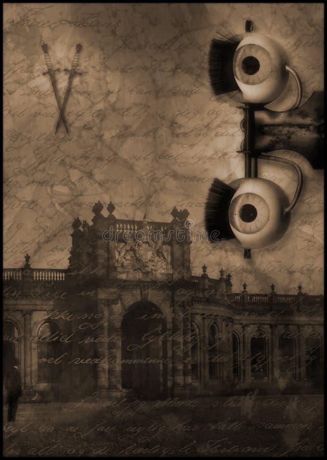 zamek oko ducha morderstwa. ilustracji