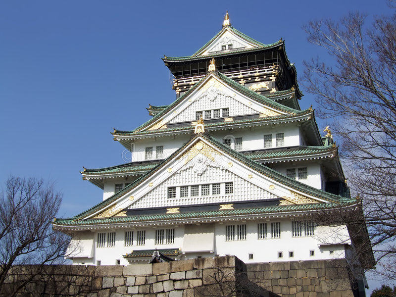 zamek Osaka obrazy royalty free