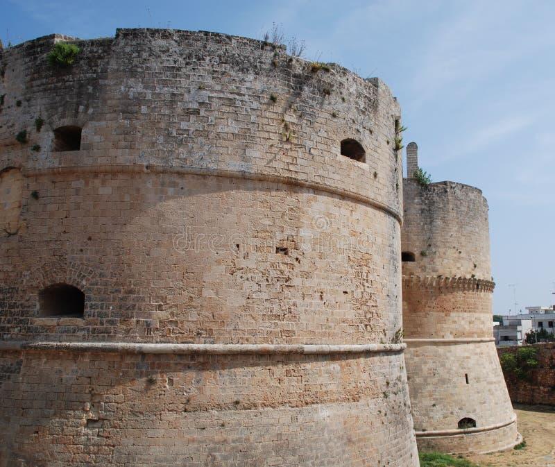 zamek otranto zdjęcie stock