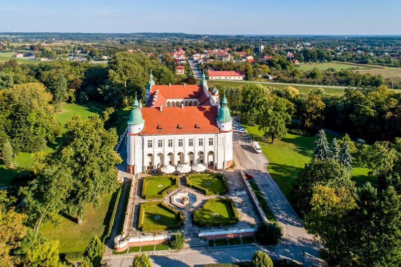 Zamek renesansowy w Baranowie, Polska fotografia stock