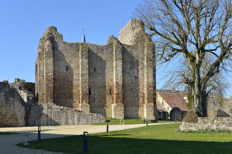 Zamek Sainte-Suzanne we Francji zdjęcie royalty free