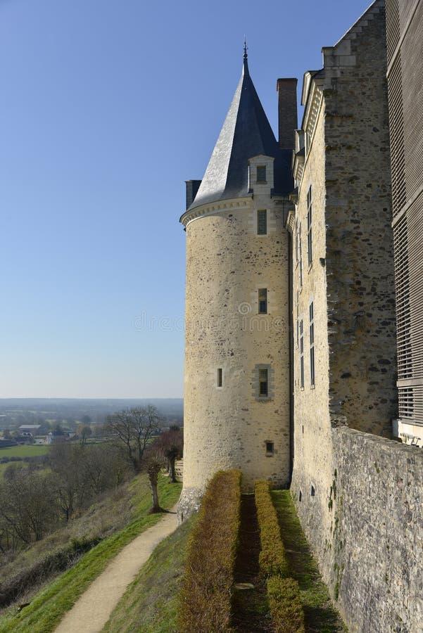 Zamek Sainte-Suzanne we Francji fotografia stock