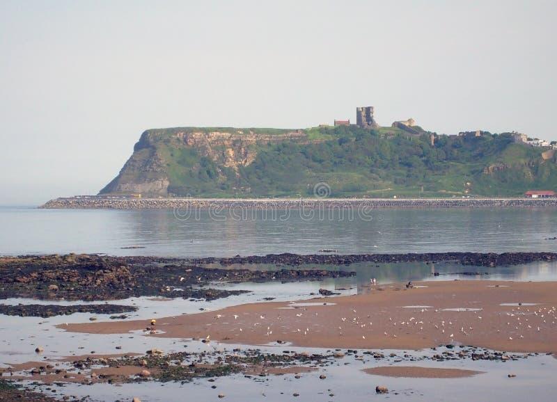 zamek Scarborough widok fotografia stock