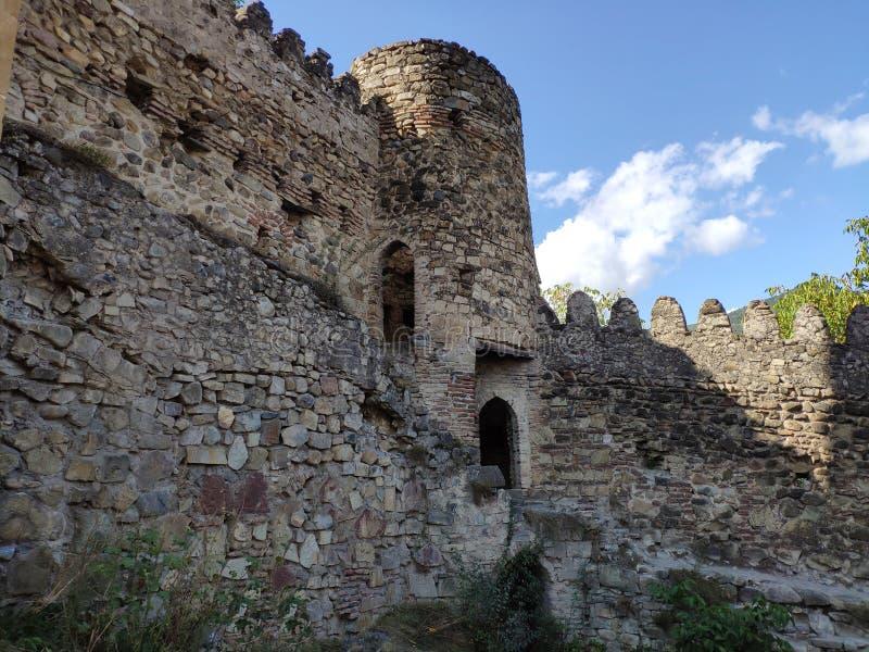 Zamek w Gruzji Ananuri obrazy royalty free