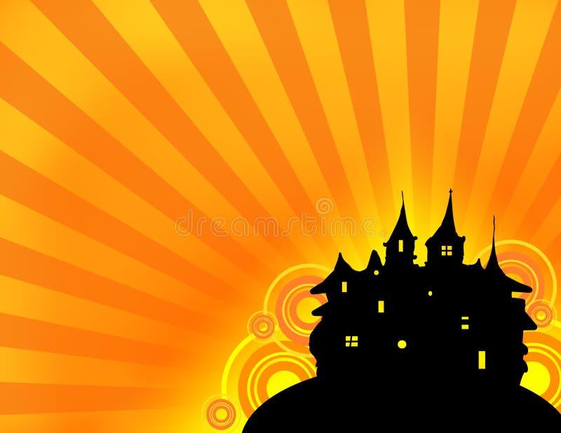 zamek w Halloween. ilustracja wektor