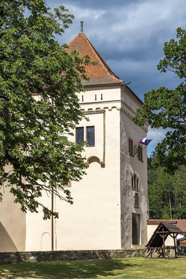 Zamek w miejscowości Kezmarok, Słowacja fotografia stock