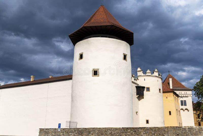 Zamek w miejscowości Kezmarok, Słowacja zdjęcia stock