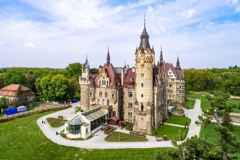 Zamek w Mosznie koło Opola, Śląsk, Polska fotografia royalty free
