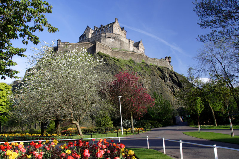 zamek widok zdjęcie stock