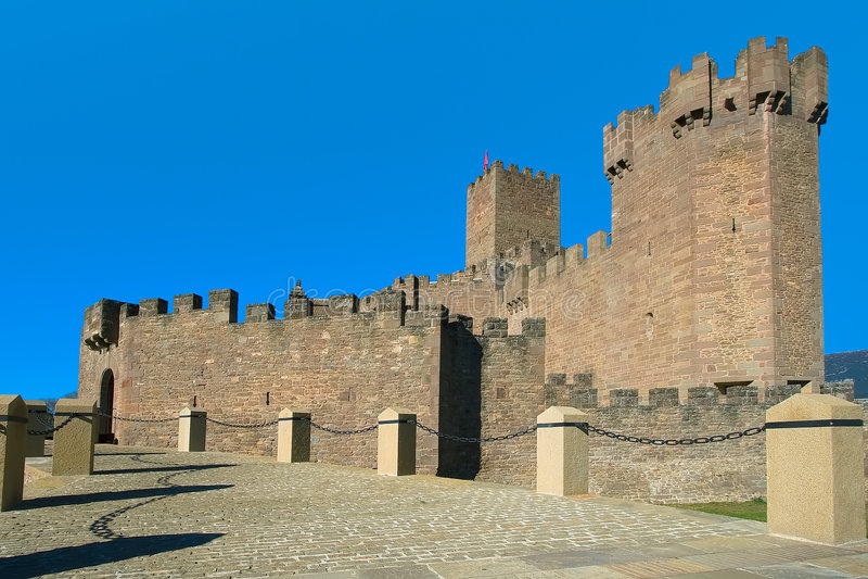 zamek wpis Javier s Hiszpanii obraz stock