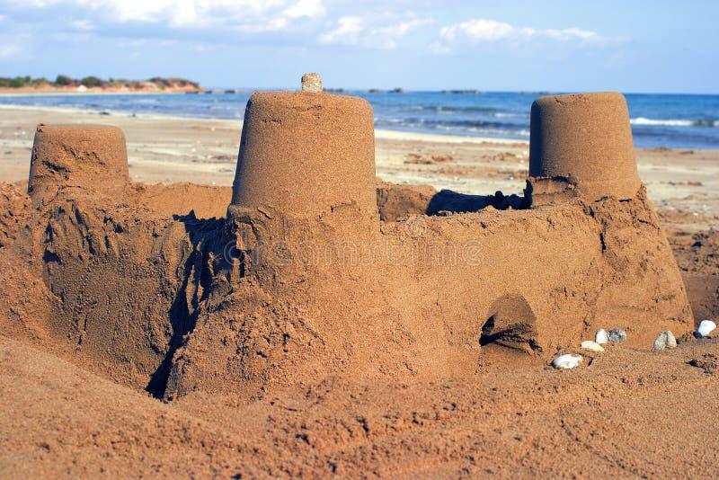 zamek z piasku zdjęcie stock