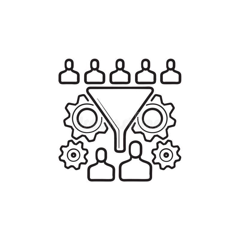 Zamiana leja konturu doodle ręka rysująca ikona royalty ilustracja