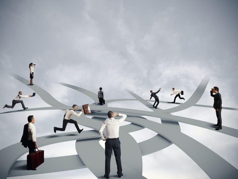 Zamieszania i biznesu kariera obrazy stock
