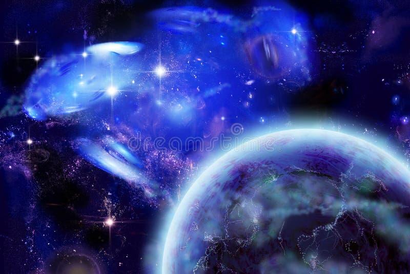 zamieszkana planeta royalty ilustracja