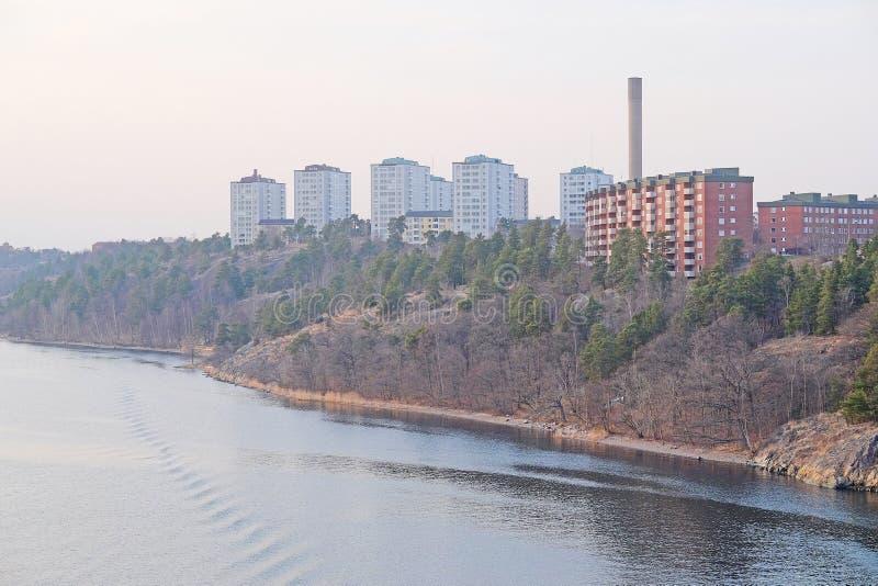 Zamieszkany okręg w Sztokholm obraz royalty free