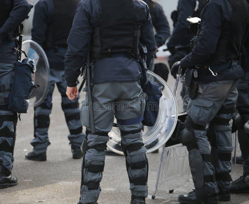zamieszki policja podczas powstania miasteczka fotografia royalty free