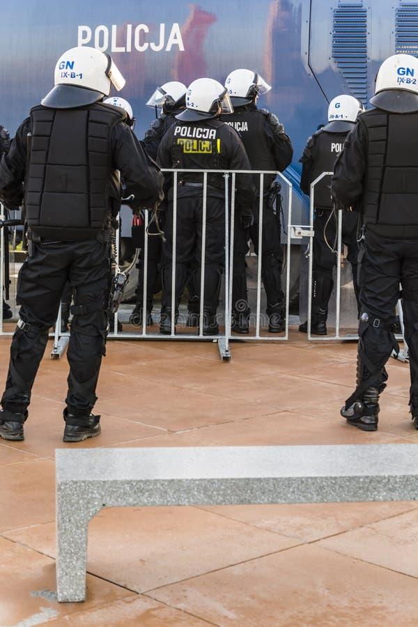 Zamieszki policja (Polska) obrazy royalty free