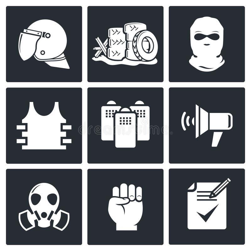 Download Zamieszki W Ulicznej Ikony Kolekci Ilustracji - Ilustracja złożonej z interes, problem: 42525492