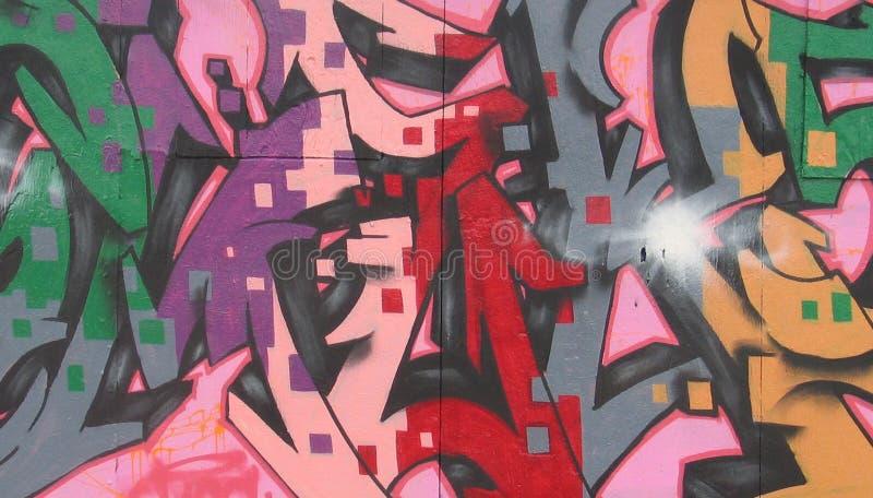 zamknięci graffiti zamknięty izolują zdjęcie stock