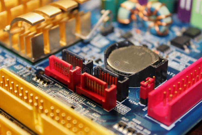 Zamknięcie obwodu elektronicznego lub PCB obrazy royalty free