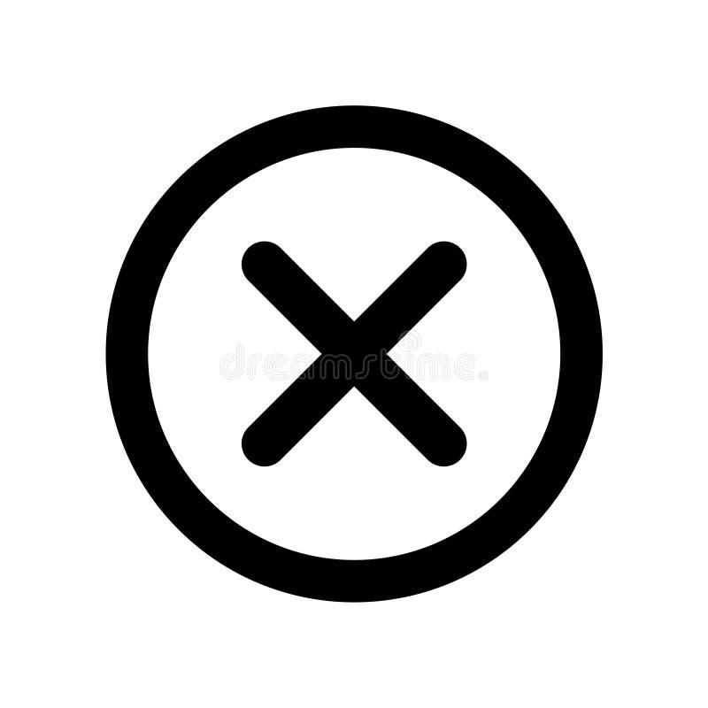 zamknięta ikona royalty ilustracja