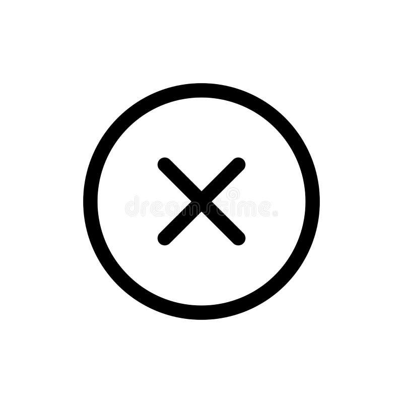 Zamknięta ikona, deleatur symbol Ilustracja dla strony internetowej app lub wiszącej ozdoby royalty ilustracja