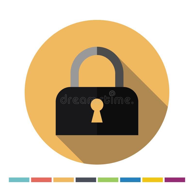 Zamknięta kłódki ikona ilustracja wektor