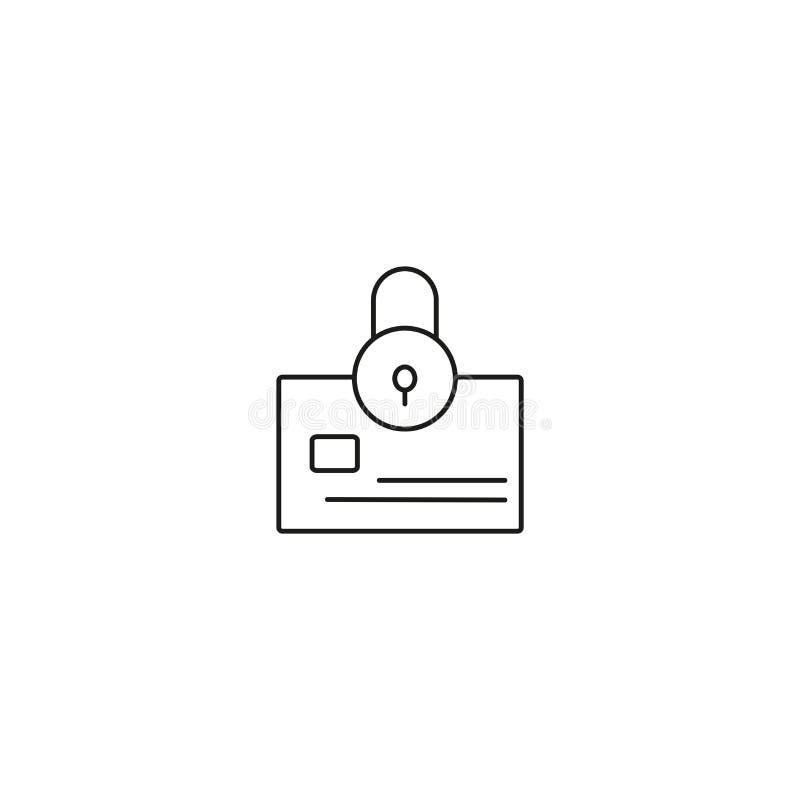 zamknięta kredytowej karty ikona royalty ilustracja