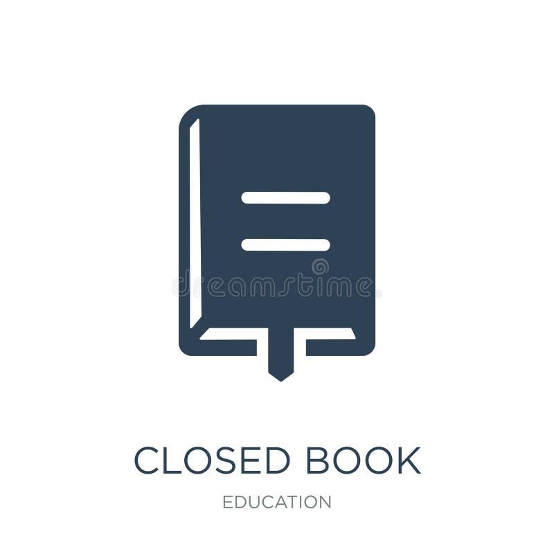 zamknięta książka z markier ikoną w modnym projekta stylu zamknięta książka z markier ikoną odizolowywającą na białym tle zamknię ilustracji