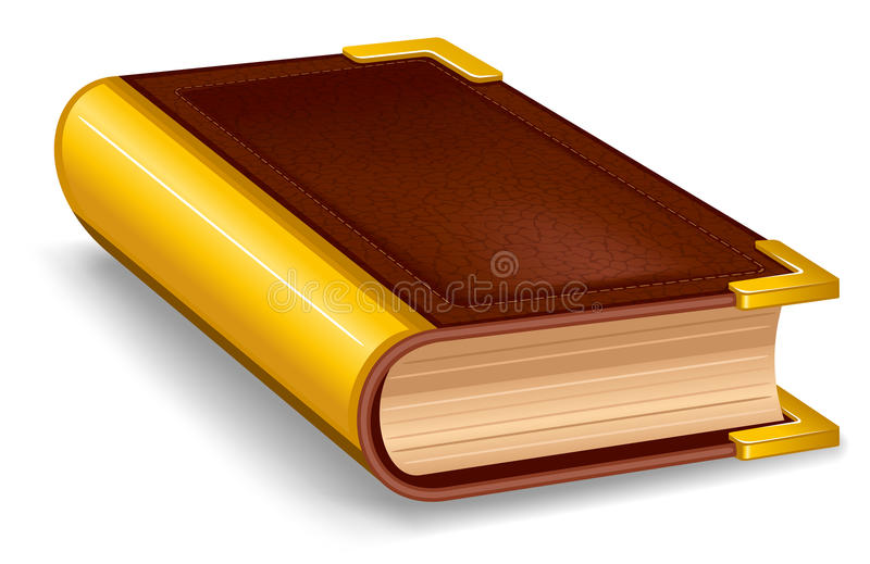 Zamknięta stara książka ilustracji
